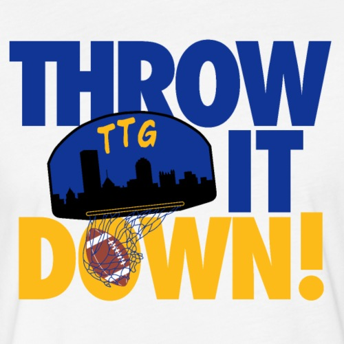 Throw it Down - Fitted Cotton/Poly T-Shirt by Next Level