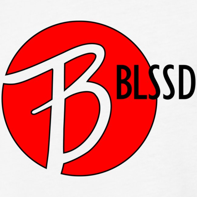RED BLSSD SHIRT WITH BLACK WRITING