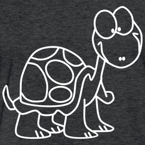 Funny Turtle - Fitted Cotton/Poly T-Shirt by Next Level