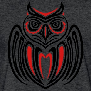 Large owl with wings in Haida Style. - Fitted Cotton/Poly T-Shirt by Next Level