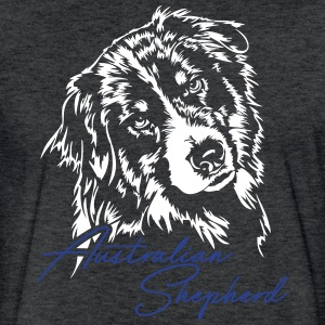 Australian Shepherd - Fitted Cotton/Poly T-Shirt by Next Level