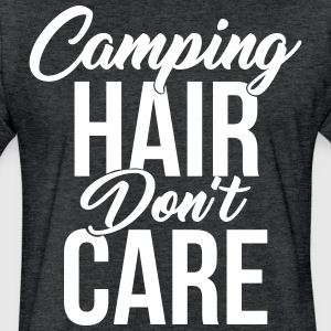 Camping Hair Don't Care for Campers & Outdoors - Fitted Cotton/Poly T-Shirt by Next Level