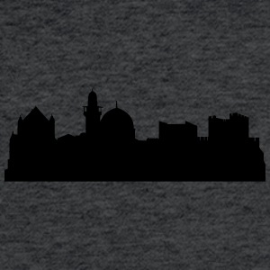 Jerusalem silhouette - Fitted Cotton/Poly T-Shirt by Next Level
