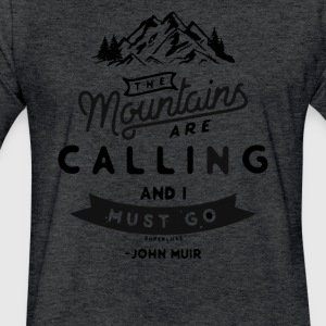 the Mountains Are Calling and I Must Go NEW Vintag - Fitted Cotton/Poly T-Shirt by Next Level