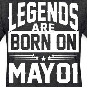 Legends are born on May 01 - Fitted Cotton/Poly T-Shirt by Next Level