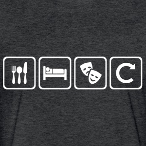Eat. Sleep. Theatre. Repeat. - Fitted Cotton/Poly T-Shirt by Next Level