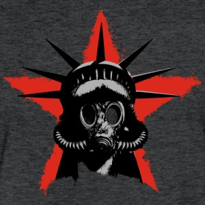 Toxic Liberty Gasmask - Fitted Cotton/Poly T-Shirt by Next Level