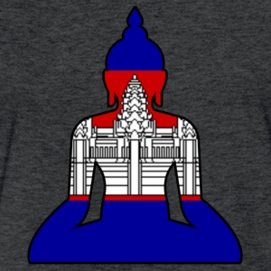 Cambodian Buddha flag - Fitted Cotton/Poly T-Shirt by Next Level