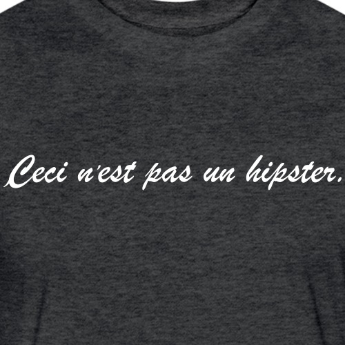 Not A Hipster - Fitted Cotton/Poly T-Shirt by Next Level