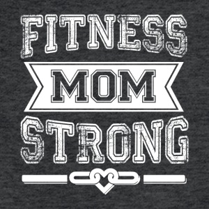 Fitness Mom Strong T Shirt - Fitted Cotton/Poly T-Shirt by Next Level