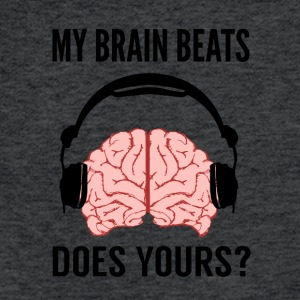 My Brain Beats - Fitted Cotton/Poly T-Shirt by Next Level