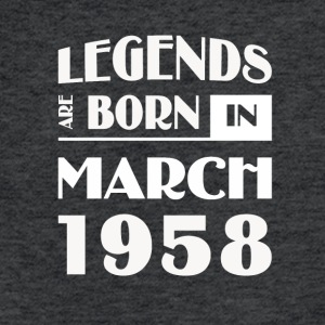 Legends are born in March 1958 - Fitted Cotton/Poly T-Shirt by Next Level