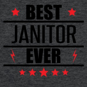 Best Janitor Ever - Fitted Cotton/Poly T-Shirt by Next Level