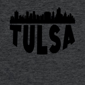 Tulsa OK Cityscape Skyline - Fitted Cotton/Poly T-Shirt by Next Level