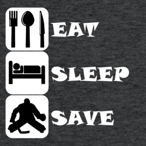 Eat Sleep Save Hockey - Fitted Cotton/Poly T-Shirt by Next Level