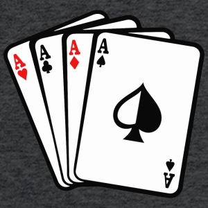 Four Aces Poker Cards - Fitted Cotton/Poly T-Shirt by Next Level