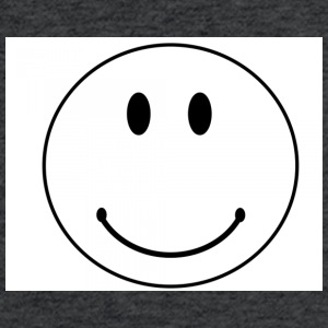smiley face - Fitted Cotton/Poly T-Shirt by Next Level