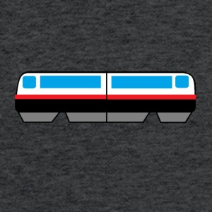 Sky Train Picture - Fitted Cotton/Poly T-Shirt by Next Level