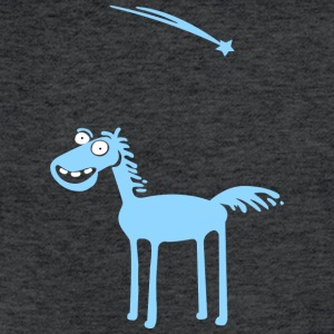 Blue horse - Fitted Cotton/Poly T-Shirt by Next Level