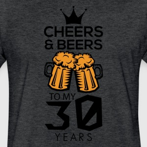 Cheers Beers To My Thirty Years Tee Shirt - Fitted Cotton/Poly T-Shirt by Next Level