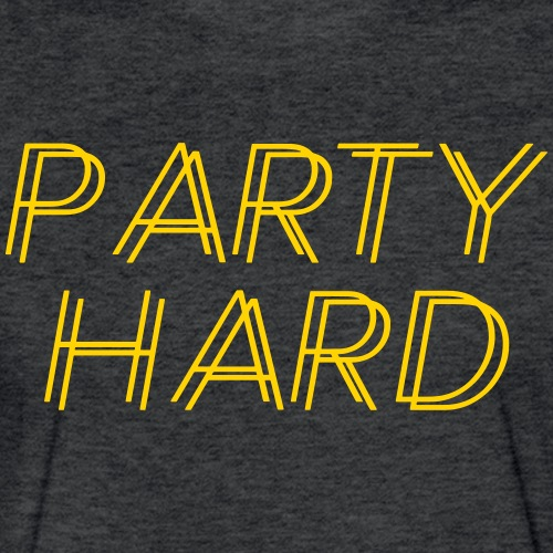 partyhard - Fitted Cotton/Poly T-Shirt by Next Level
