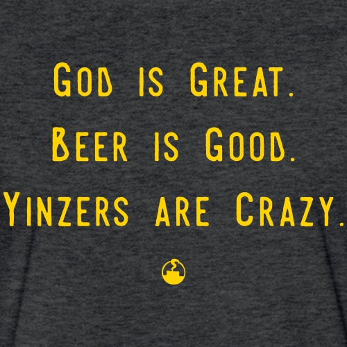 GodBeerYinzers - Fitted Cotton/Poly T-Shirt by Next Level