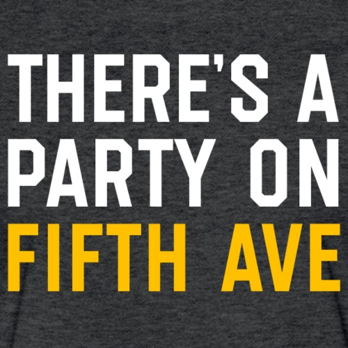 There's a Party on Fifth Ave - Fitted Cotton/Poly T-Shirt by Next Level