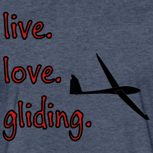live love gliding - Fitted Cotton/Poly T-Shirt by Next Level