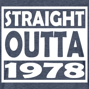 39th Birthday T Shirt Straight Outta 1978 - Fitted Cotton/Poly T-Shirt by Next Level
