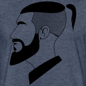 man Hair cut style - Fitted Cotton/Poly T-Shirt by Next Level