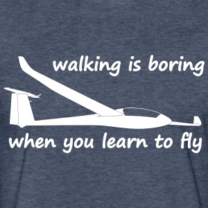 walking is boring when you learn to fly usa - Fitted Cotton/Poly T-Shirt by Next Level