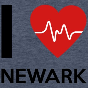 I Love Newark - Fitted Cotton/Poly T-Shirt by Next Level