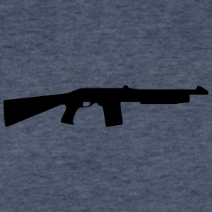 Vector Gun Silhouette - Fitted Cotton/Poly T-Shirt by Next Level