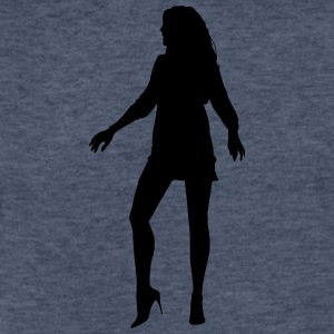 Woman body Silhouette vector design - Fitted Cotton/Poly T-Shirt by Next Level