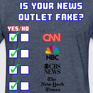 All About Fake News - Fitted Cotton/Poly T-Shirt by Next Level