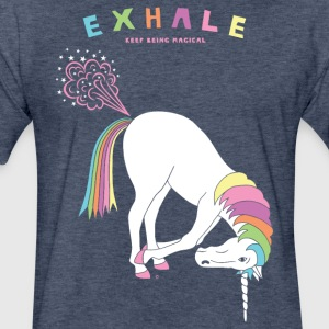 Hand To Feet Unicorn - Fitted Cotton/Poly T-Shirt by Next Level