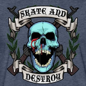 Skate and Destroy Skull - Fitted Cotton/Poly T-Shirt by Next Level