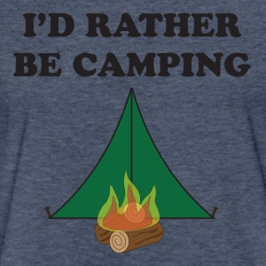 Rather Be Camping - Fitted Cotton/Poly T-Shirt by Next Level