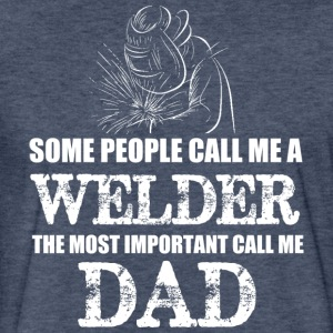WELDER DAD T Shirt - Fitted Cotton/Poly T-Shirt by Next Level