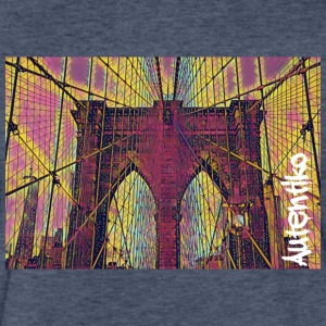 New York Bridge - Fitted Cotton/Poly T-Shirt by Next Level