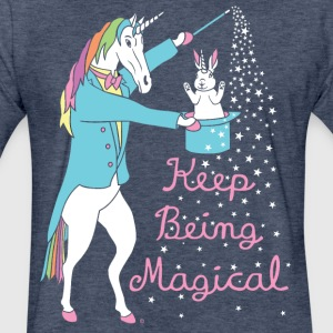 Magician Unicorn - Fitted Cotton/Poly T-Shirt by Next Level