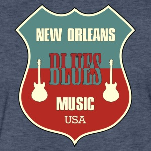 new orleans blues - Fitted Cotton/Poly T-Shirt by Next Level