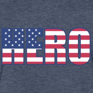 American Hero - Fitted Cotton/Poly T-Shirt by Next Level