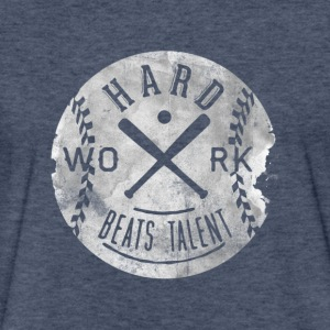 Hard work beats talent T Shirt - Fitted Cotton/Poly T-Shirt by Next Level