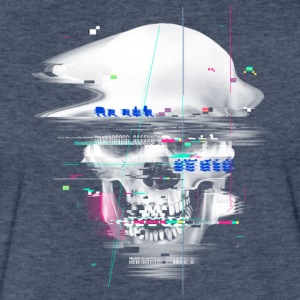 Blue Glitch of Death T Shirt - Fitted Cotton/Poly T-Shirt by Next Level