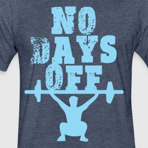 NO DAYS OFF - Fitted Cotton/Poly T-Shirt by Next Level