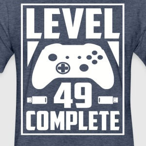Level 49 Complete - Fitted Cotton/Poly T-Shirt by Next Level