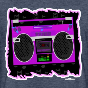 Awesome Eighties Boombox - Fitted Cotton/Poly T-Shirt by Next Level