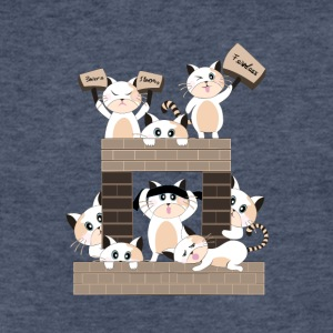 Cat Castle - Fitted Cotton/Poly T-Shirt by Next Level