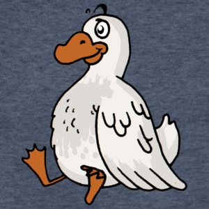 duck poultry fowl canard - Fitted Cotton/Poly T-Shirt by Next Level
